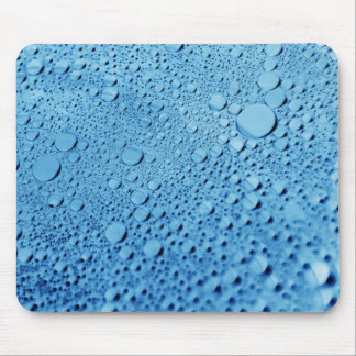 Water drops blue background design mouse pad