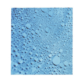 Water drops blue background design notepad