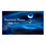 Water Drops Blue Generic business card