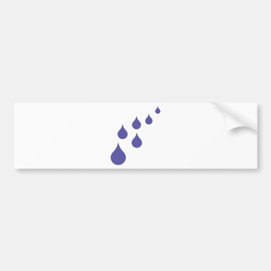 water drops bumper sticker