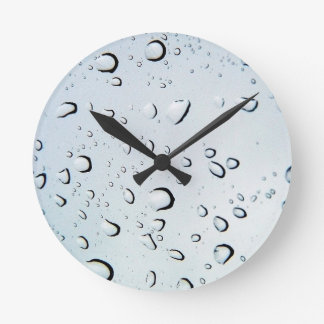 Water Drops Crystal Clear Fine glass tiles Beautif Round Clock
