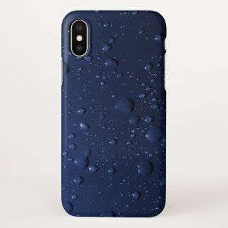 Water drops on dark blue background iPhone x case