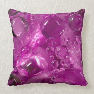 Water drops on flower, California Throw Pillow