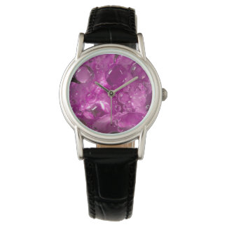 Water drops on flower, California Wristwatches