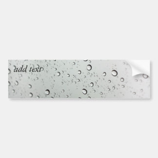 Water Drops on Glass Bumper Sticker