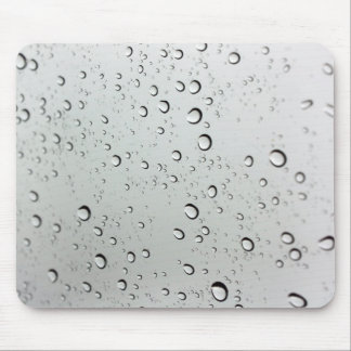 Water Drops on Glass Mouse Mat