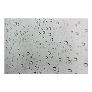 Water Drops on Glass Poster