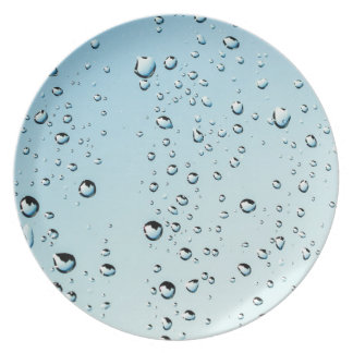 Water drops plate