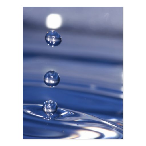 Water Drops Postcards