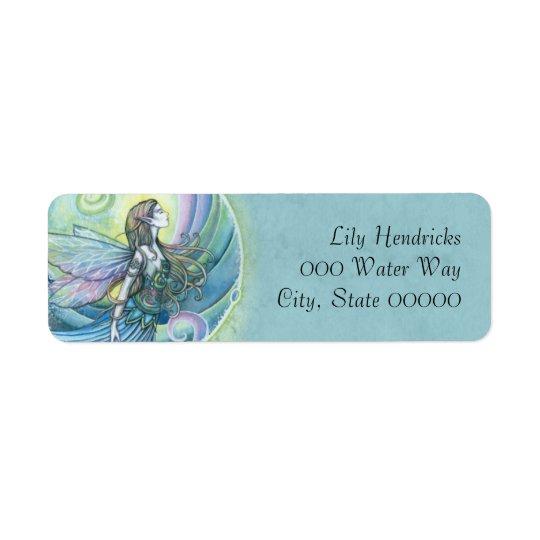 Water Element Fairy Fantasy Art Return Address Label
