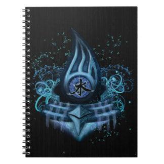 Water Element Kanji Illustration Art Notebooks