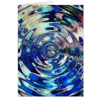 WATER Element Ripple Pattern Greeting Card