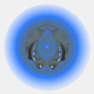 water element round sticker