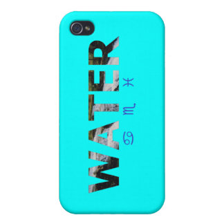 Water Element with Zodiac Signs Cover For iPhone 4