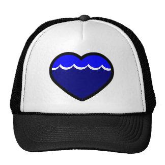 Water Elemental Heart Mesh Hat