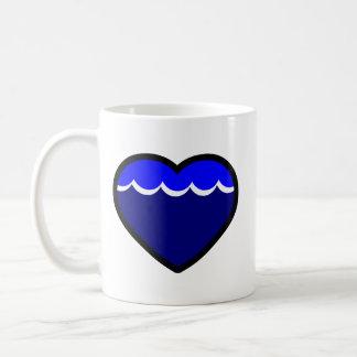 Water Elemental Heart Coffee Mug