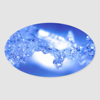 Water Exploding Water Oval Sticker