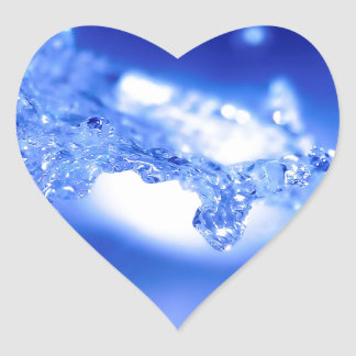 Water Exploding Water Heart Sticker