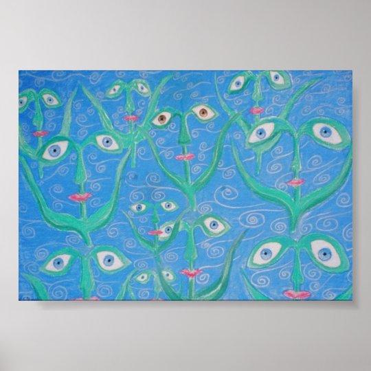 water eye reeds poster