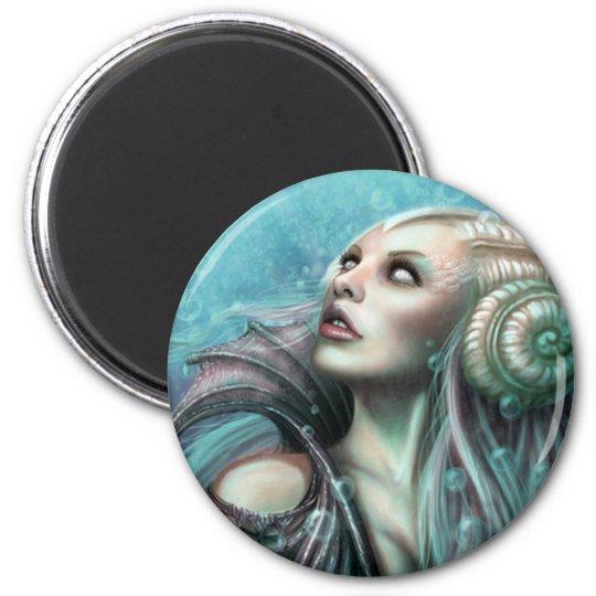 Water Fairy 6 Cm Round Magnet