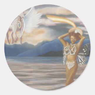 Water Fairy - Princess Series - CricketDiane Round Stickers