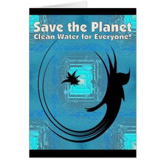 Water Fairy - Save the Panet - Clean Water for Eve Greeting Card
