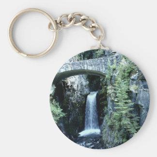 Water fall by bridge waterfall key ring