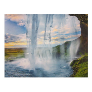 Water fall in Iceland postcard