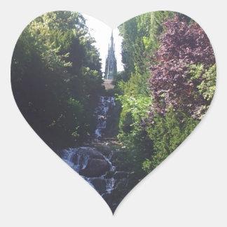 Water fall Viktoria park Heart Sticker
