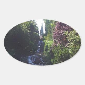Water fall Viktoria park Oval Sticker
