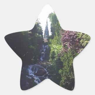 Water fall Viktoria park Star Sticker