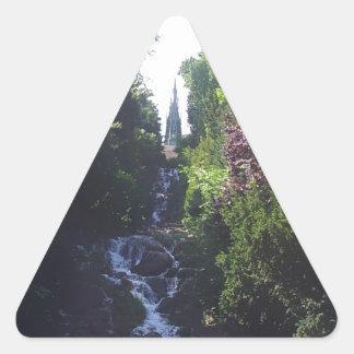 Water fall Viktoria park Triangle Sticker