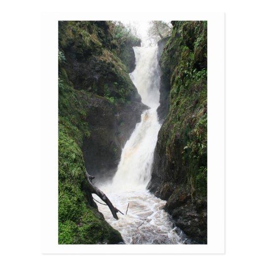 Water falls fast postcard