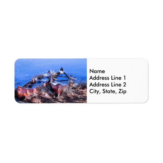 Water Filled Canoes Return Address Label