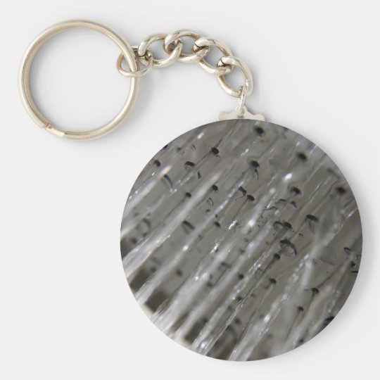 Water flowing out of shower head key ring