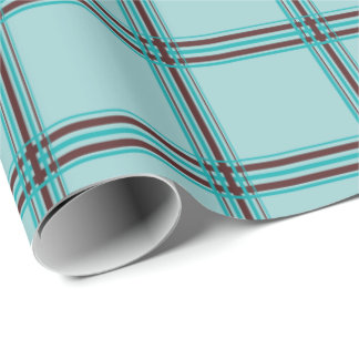 Water-for-Chocolate Plaid Wrapping Paper
