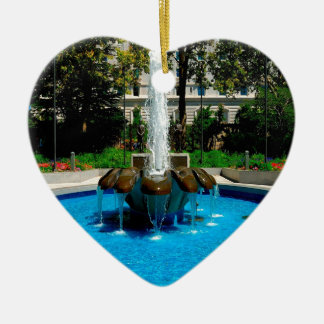Water Fountain Of Riches Ceramic Heart Decoration