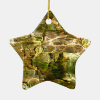 Water from Hot Springs Abstract Nature Photo Ceramic Star Decoration