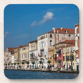 Water Front Along The Grand Canal Of Venice Coaster