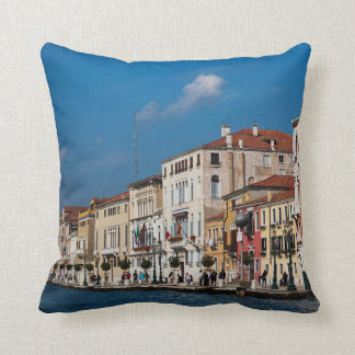 Water Front Along The Grand Canal Of Venice Cushion