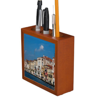 Water Front Along The Grand Canal Of Venice Desk Organiser