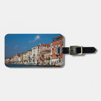 Water Front Along The Grand Canal Of Venice Luggage Tag