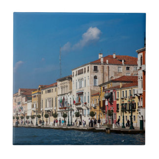 Water Front Along The Grand Canal Of Venice Tile