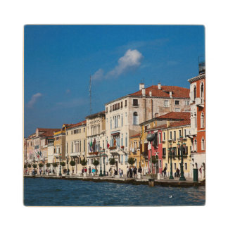 Water Front Along The Grand Canal Of Venice Wood Coaster