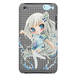 Water girl and kawaii fish iPod Case-Mate cases