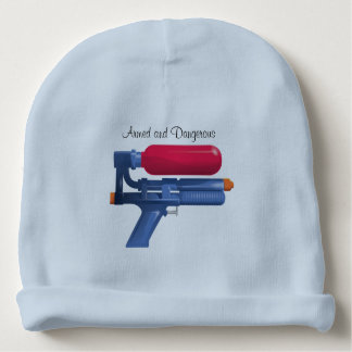 Water Gun Armed And Dangerous Baby Beanie