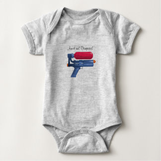 Water Gun Armed And Dangerous Baby Bodysuit