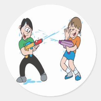 Water Gun Fight Stickers