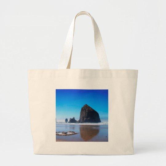 Water Haystack Rock Large Tote Bag