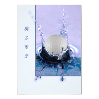Water Hazard 5x7 Paper Invitation Card